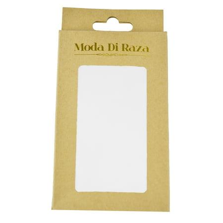 Men Pocket Square 10 x 10 Handkerchiefs Hanky Solid Color by Moda Di Raza - White