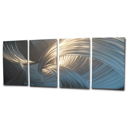 0eb00f2c5d9 Tempest Silver - Abstract Metal Wall Art Contemporary Modern Decor by Miles  Shay - Walmart.com