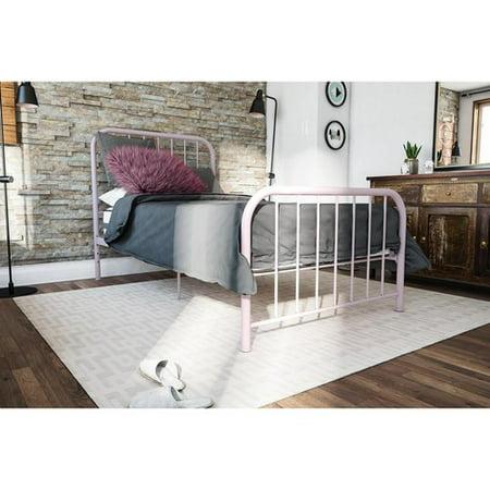 Novogratz Bellamy Pink Metal Bed Twin Product Picture