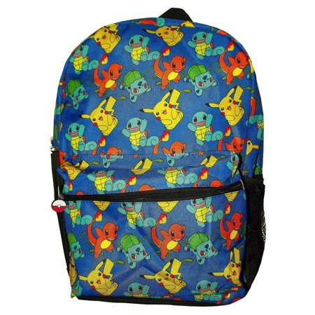 Pokemon Pikachu Balbasaur Charmander Squirtle All Over 16