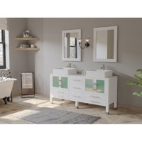 Cambridge Plumbing Emerald 63'' Double Bathroom Vanity Set with Mirror