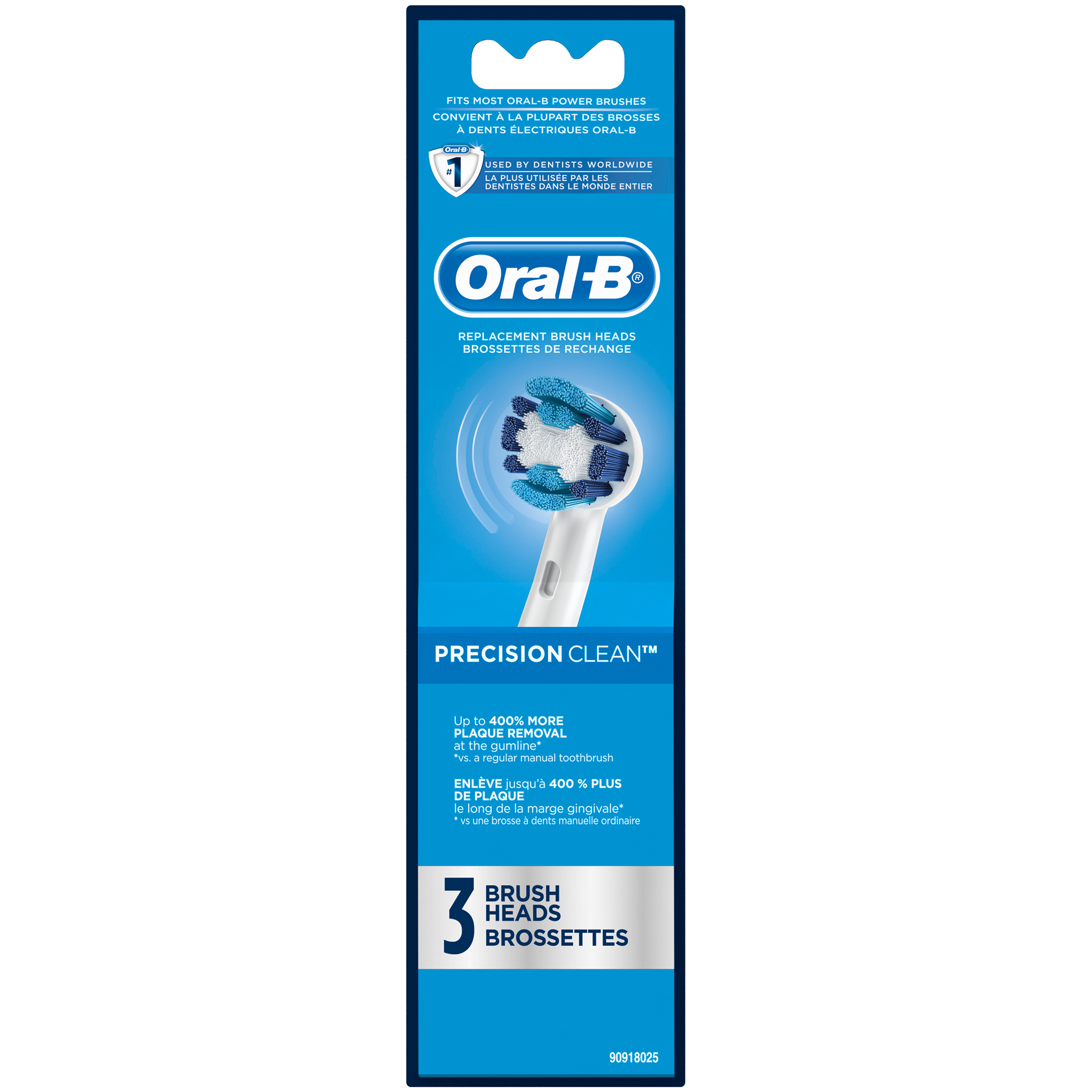 Oral-B Precision Clean Replacement Brush Heads 3 ct Carded Pack ...