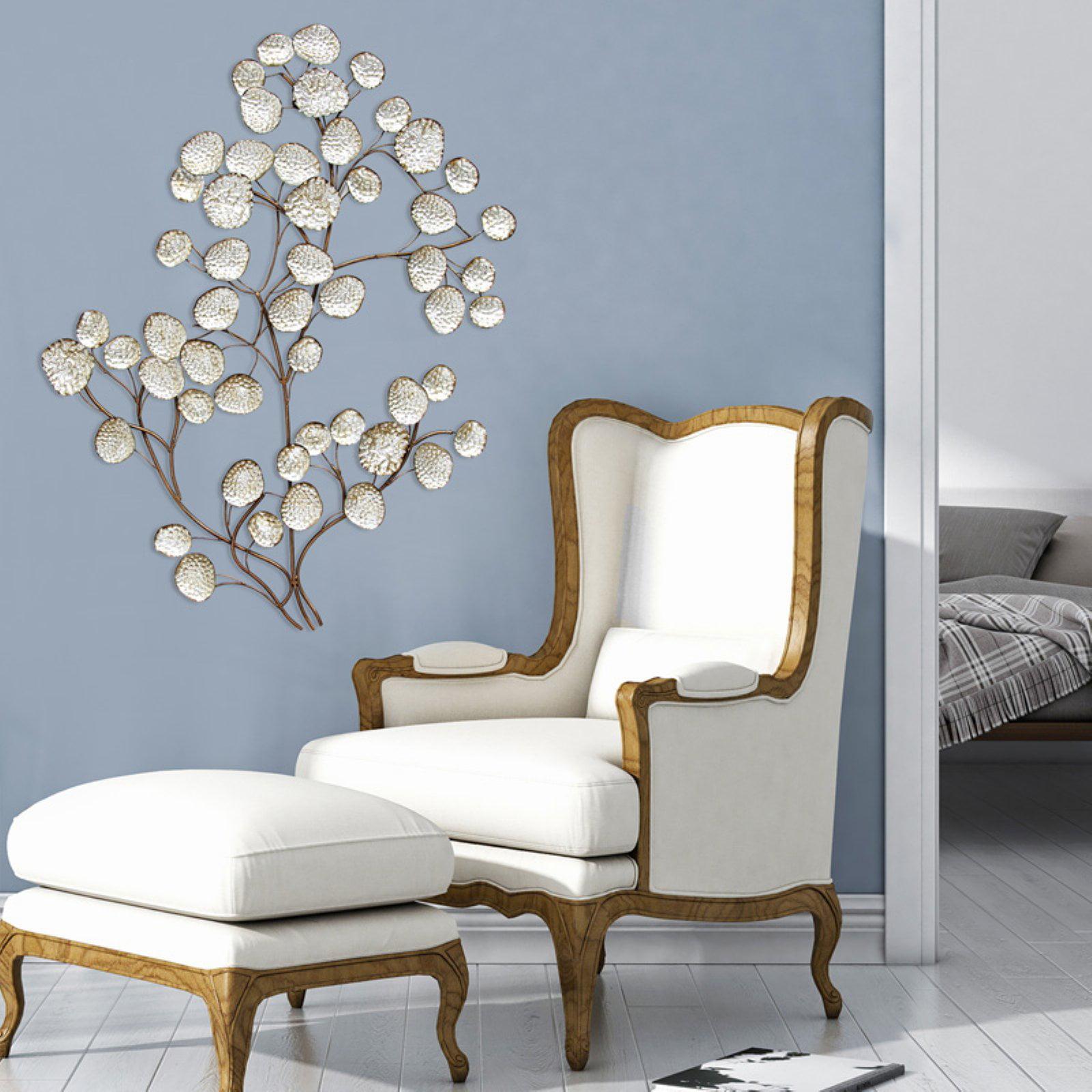 Stratton Home Decor Silver Textured Leaf Wall Decor by Stratton Home Decor