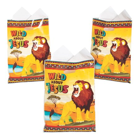 Fun Express - African Safari Vbs Plastic Bag - Party Supplies - Bags - Plastic Bags - 50 Pieces - Vbs Jungle Safari