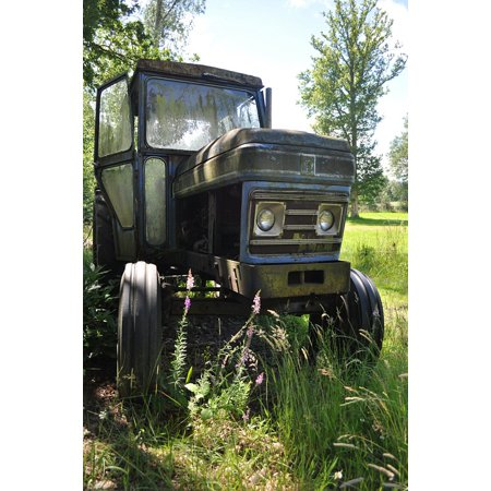 Large Frame Tractor - Framed Art for Your Wall Machinery Leyland Vintage Agriculture Tractor 10x13 Frame