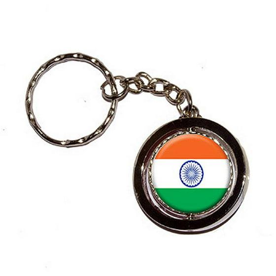 India Indian Flag Key Chain Keychain Ring - Walmart.com 5a4f33463