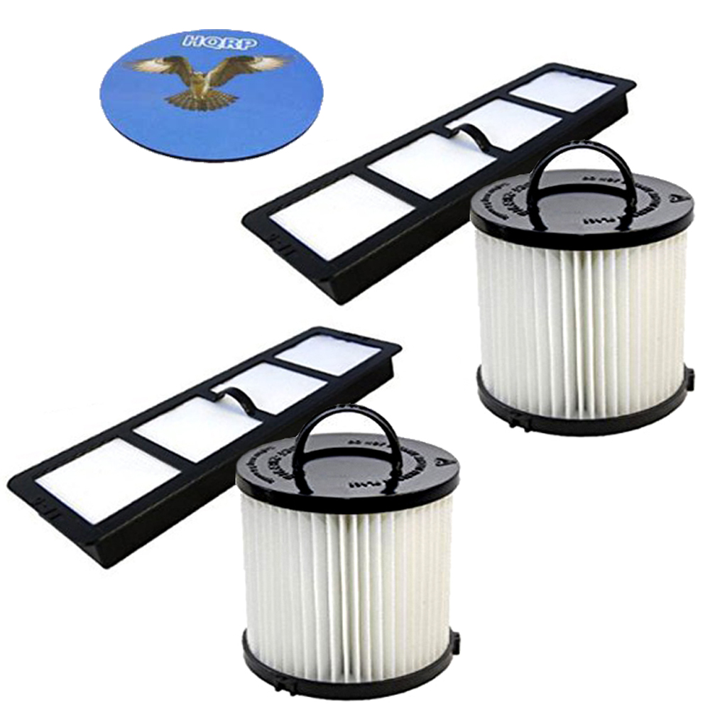 HQRP Filter Kit for Eureka AS1000 - AS1009 series AS1000 AS1000A AS1001A AS1001AE AS1001AX AS1002A AS1002AE AS1004A AS1008 AS1008AX Suction-Seal Air-Speed Upright Vac Vacuum Cleaner + HQRP Coaster