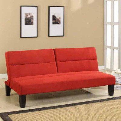 Klik-Klak Sleeper Sofa Finish: Red