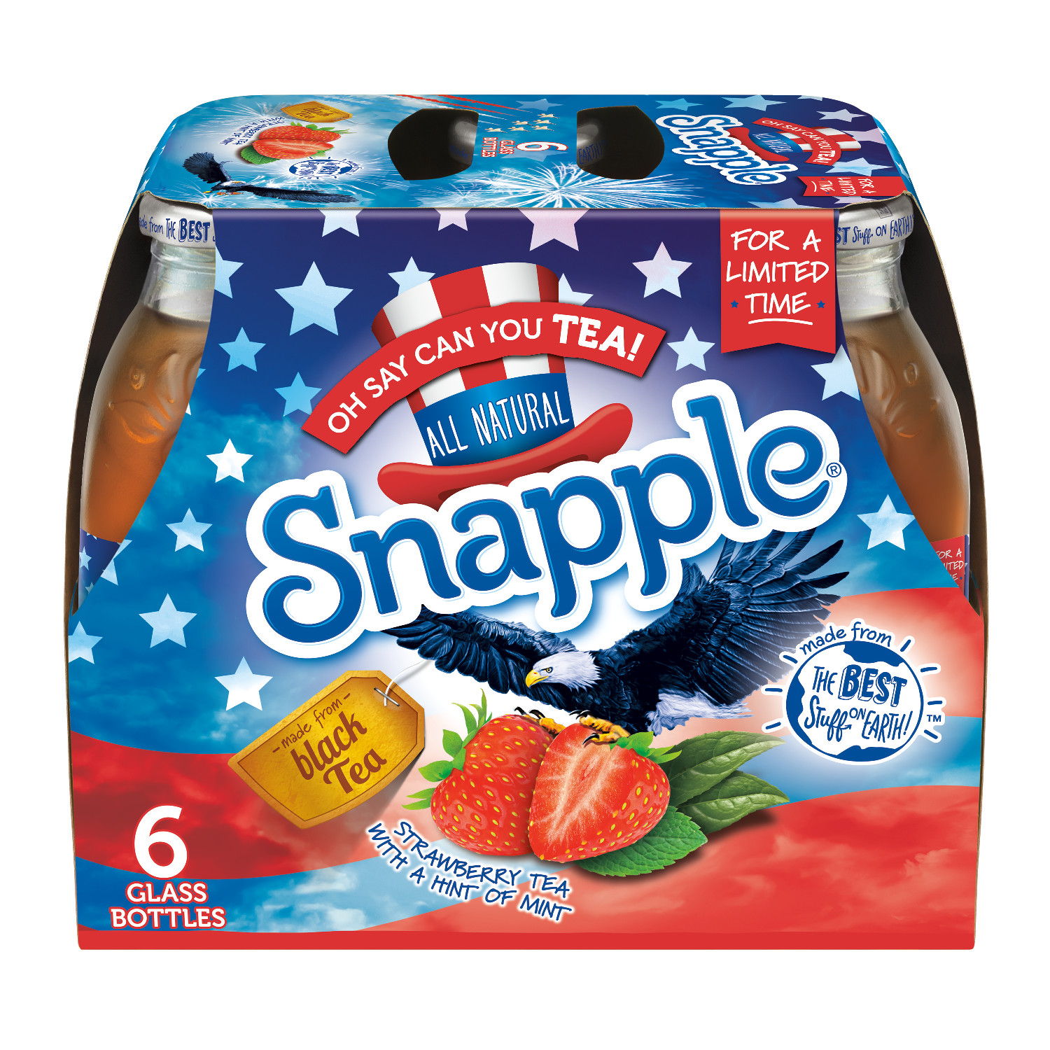 Snapple Oh Say Can You Tea, 16 fl oz, 6 pack