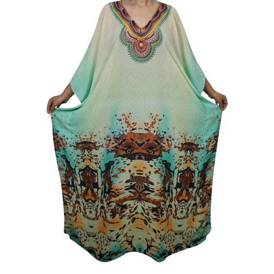 14f9c4d429 Mogul Interior - Mogul Beautiful Womens Maxi Caftan Vibrant Shades ...