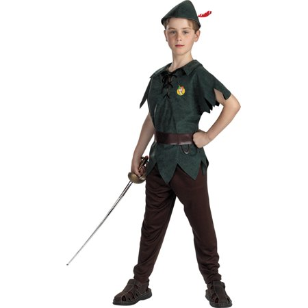 Morris Costumes Boys Peter Pan Classic 4-6, Style DG5963L](Plus Size Peter Pan Costume)