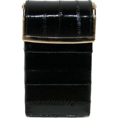 Women's Eel Skin Cigarette Case with Hinged (Eel Skin Cigarette)