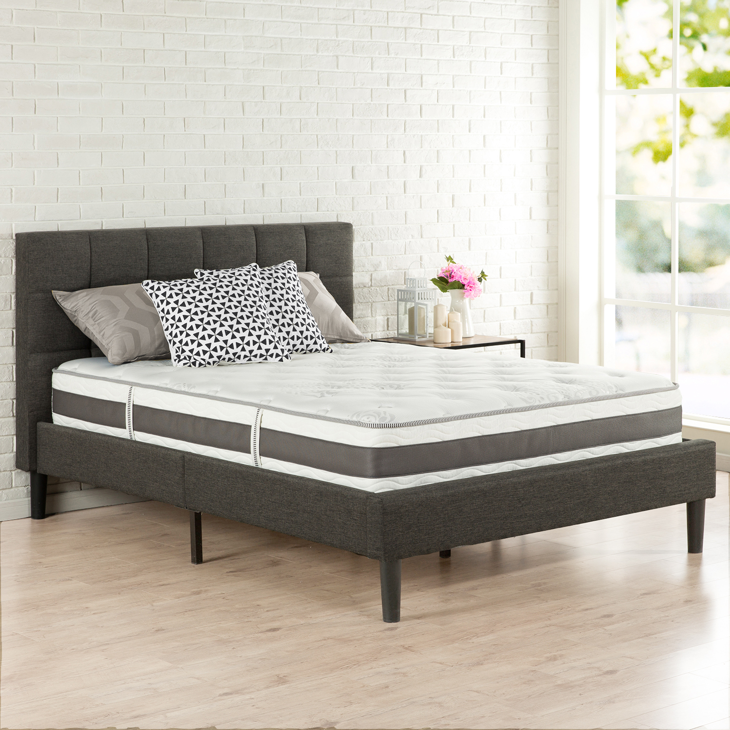 Spa Sensations by Zinus 10 Inch Memory Foam and Spring Hybrid Mattress