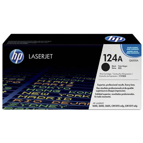 HP 124A (Q6000A) Black Original Laser Jet Toner Cartridge