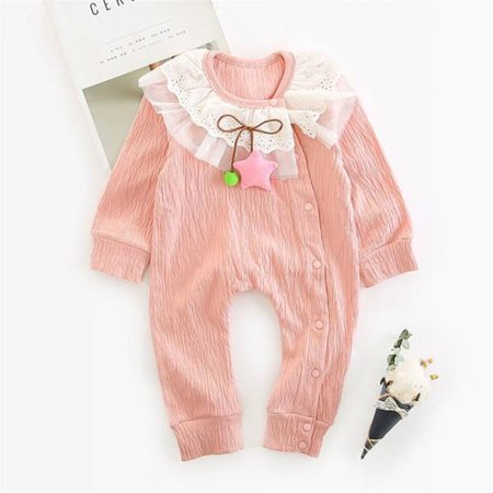 4d4471047f51 ZAXARRA - Cute Newborn Toddler Baby Girl Lace Romper Jumpsuit Bodysuit  Playsuit Clothes Pink 6-12 Months - Walmart.com