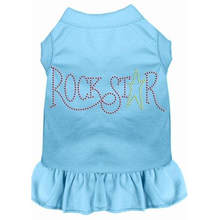 Rhinestone Rockstar Dress Baby Blue Lg - Rockstar Dress