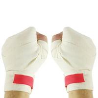 Unique Bargains Unique Bargains Pair 4.6cm Width  Cotton Blends Bandages Boxing Hand Wrap