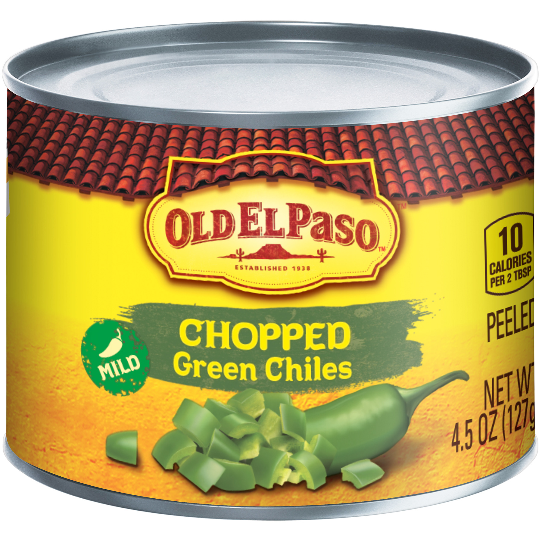 Old El Paso Mild, Chopped Green Chiles, 4.5 oz Can