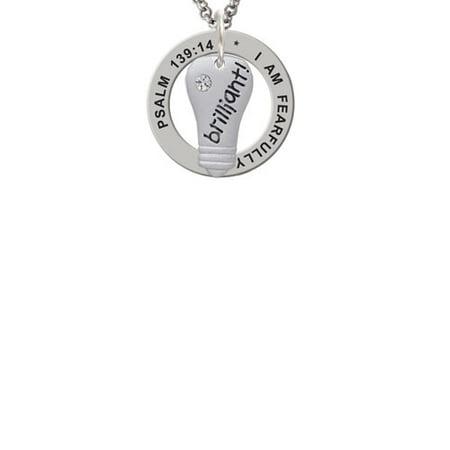 Light Bulb Rings - Resin Brilliant Light Bulb Psalm 139:14 Affirmation Ring Necklace