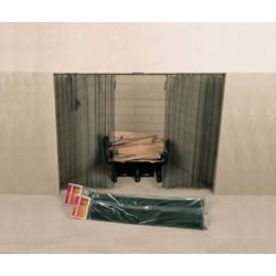"48"" X 24"" Woodfield Hanging Fireplace Spark Screen, Rod Not Included"