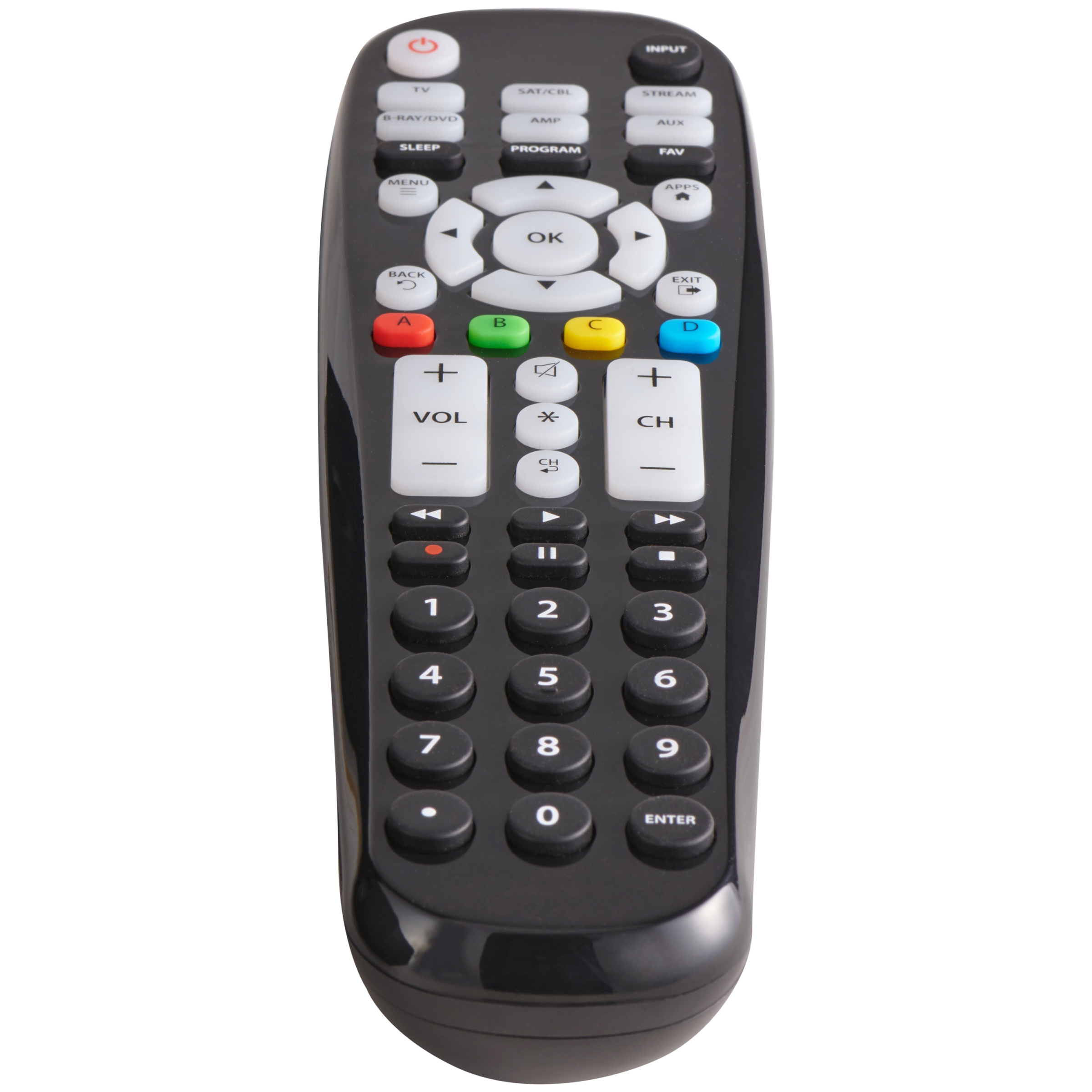 Blackweb 6 Device Universal Large Button Remote Control
