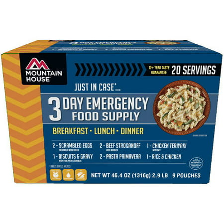Mountain House 83606 3-Day Emergency Food Supply - 20 Servings