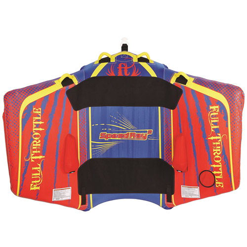 Full Throttle Speed Ray 2, 1 to 2 Riders, Red/Blue