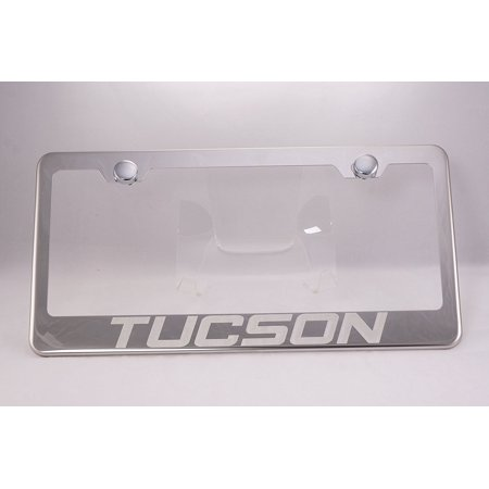 Hyundai Tucson Laser Engraved Chrome License Plate Frame