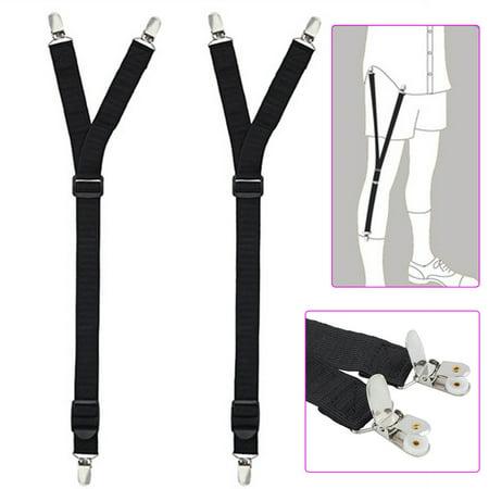 3 Pair Runner Sock (EYSNIC Pair Y Style Shirt Stays Mens Garters Suspenders Military Uniform Holder Sock )