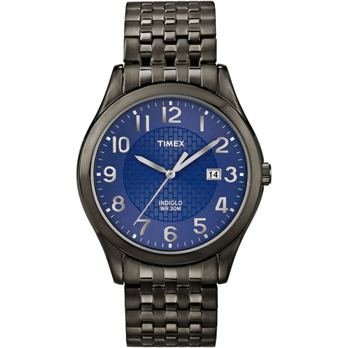 Timex Men's Woodcrest Drive Watch, Black Stainless Steel Expansion Band by Timex