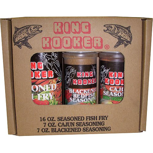 King Kooker 97050 Fish Seasoning Pack (Blackened, Fish Fry, & Cajun)
