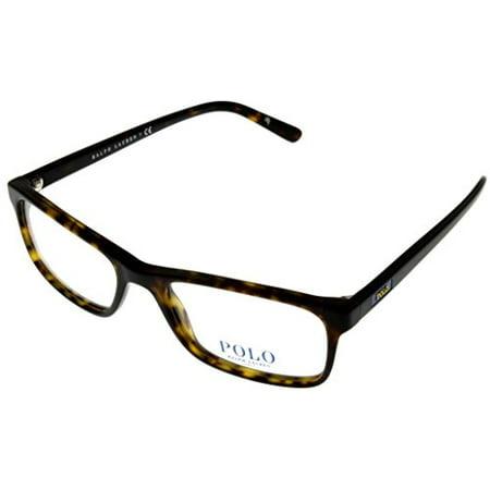 3eec84d627 Polo Ralph Lauren Prescription Eyewear Frames Men Rectangular Havana Matte  PH2143 5003 Size  Lens  Bridge  Temple  53 18 145 32.3 - Walmart.com