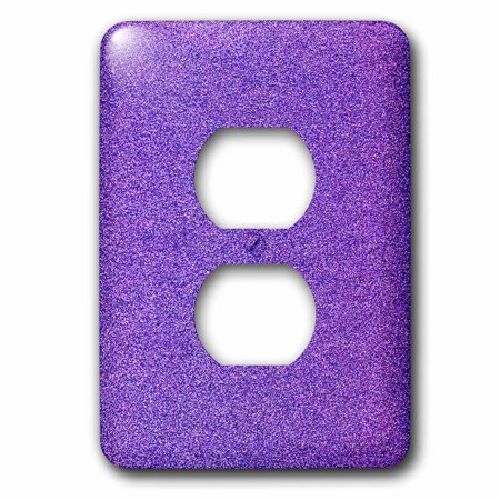 3dRose Image of Purple Glitter Color 2 Plug Outlet Cover