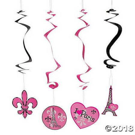 Perfectly Paris Hanging Swirls