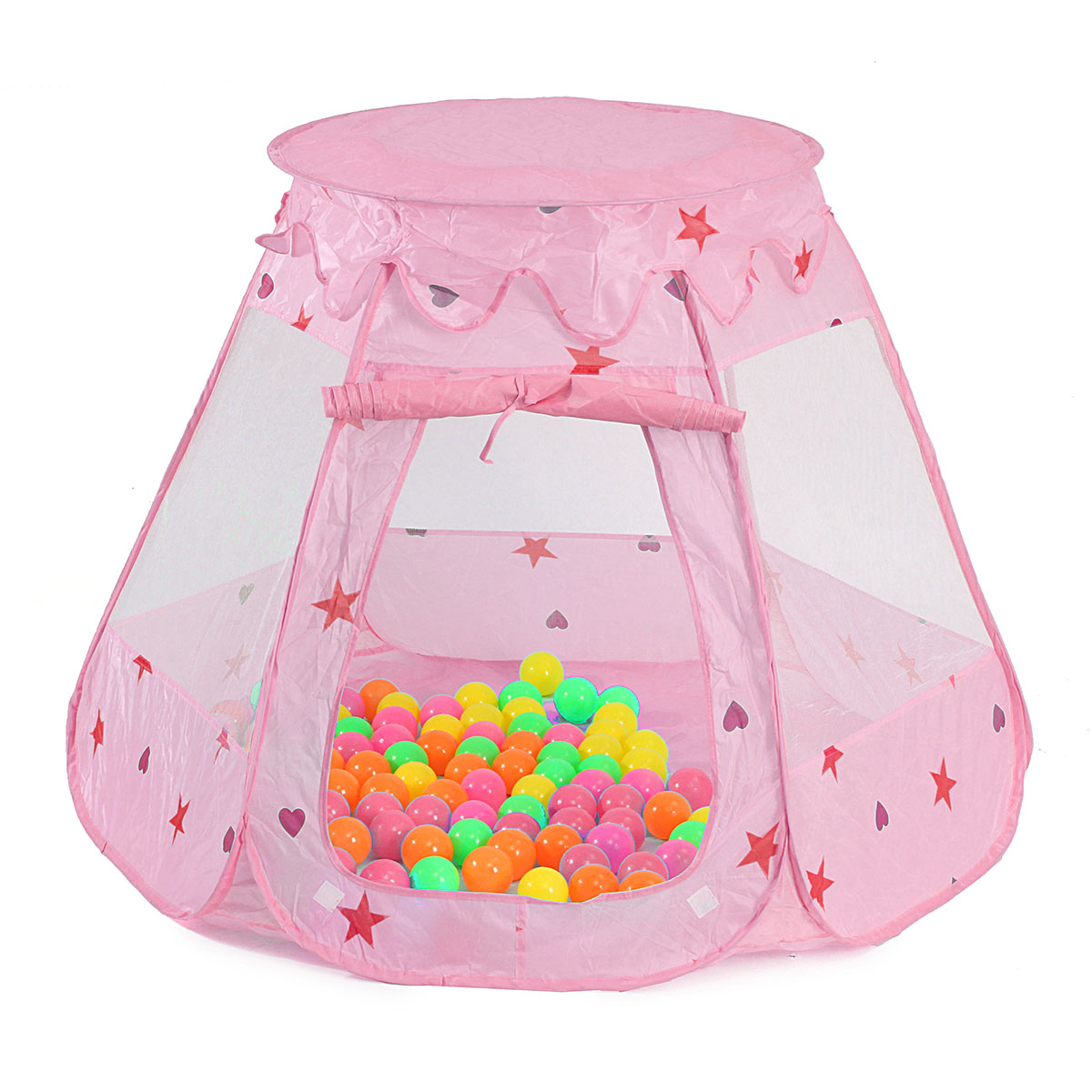 Folding Ball Pit Play Tents House Indoor and Outdoor Princess Large Space PlayHouse Castle Tent Toys as a Best Gift for 1 to 8 Years Old Kids Boy Girls Baby Infant