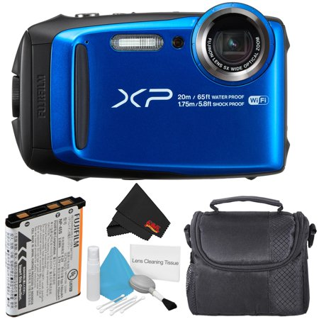 Fujifilm FinePix XP120 Waterproof Point & Shoot Digital Camera (Blue) Starter