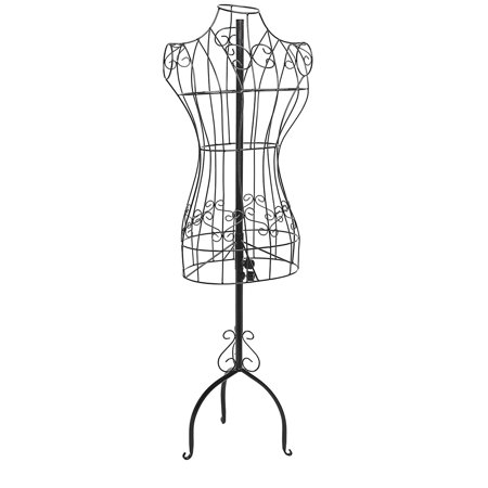Meigar Vintage Metal Adjustable Heigh Mannequin Wire Frame Dress Form Display Stand