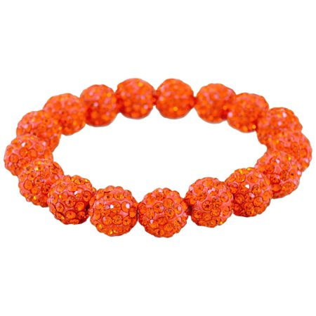 FROM THE HEART Game Day Orange Pave Rhinestone Bracelet Orange ()
