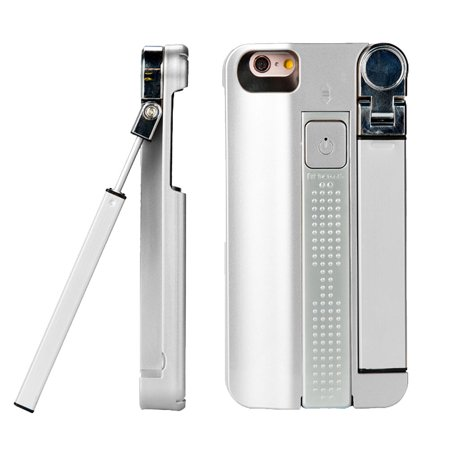 indigi 3 in 1 premium selfie stick protective case for iphone 7 silver gre. Black Bedroom Furniture Sets. Home Design Ideas