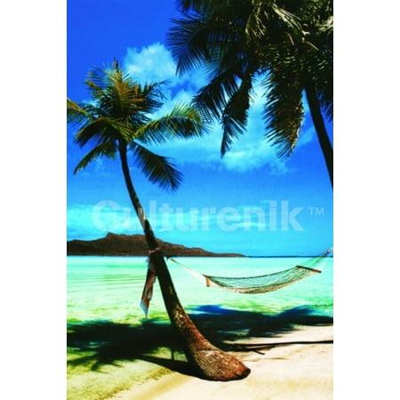 Tropical Beach Poster Print  36 X 24