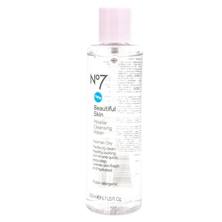 Boots No7 Beautiful Skin Micellar Cleansing Water for Normal/Dry Skin, Cleans and Hydrates  6.7 fl oz