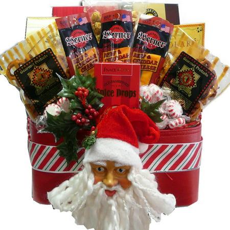 Santas Favorite Snacks And Treats Christmas Holiday Gift Basket