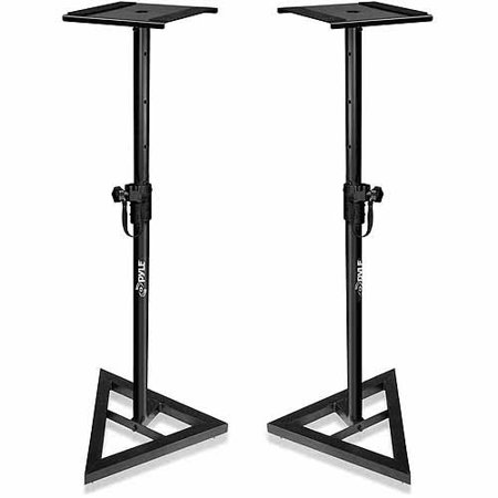 Pyle PSTND35 Heavy-Duty Telescoping Height Adjustment Monitor Speaker Stands