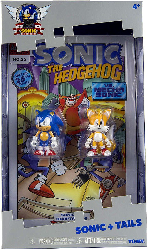 Sonic & Tails Action Figure 2-Pack With Comic Book Sonic The Hedgehog by