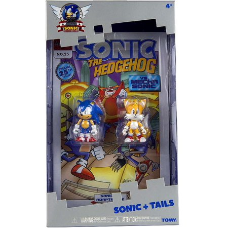 Sonic   Tails Action Figure 2 Pack With Comic Book Sonic The Hedgehog