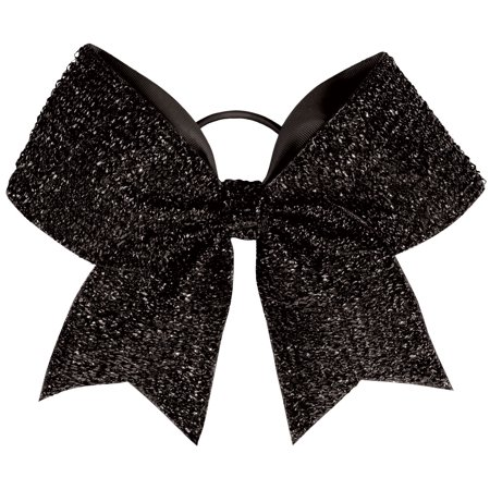 Chass Tinsel Performance Hair Bow (Girl With Black Hair And Silver Eyes)
