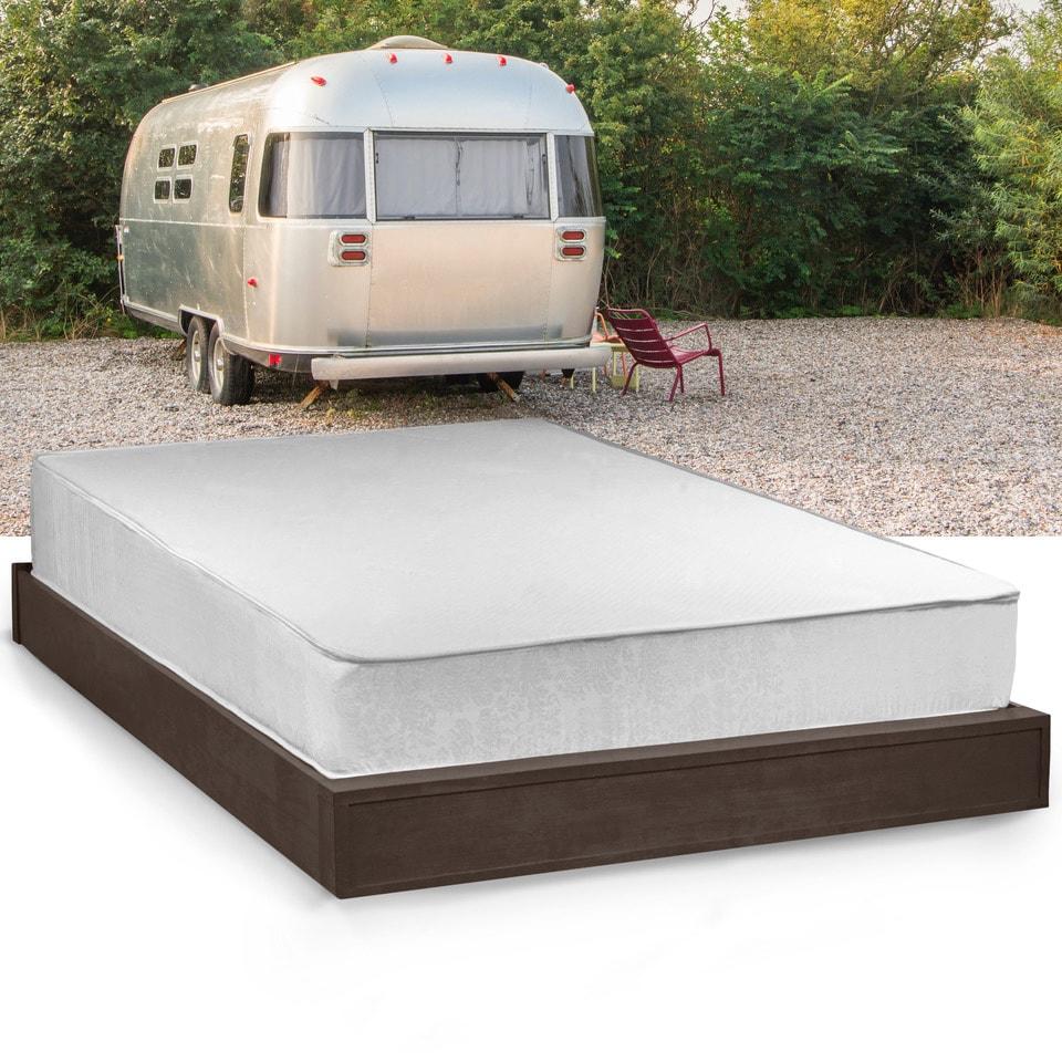 select luxury rv medium firm 10inch queen shortsize gel memory foam mattress