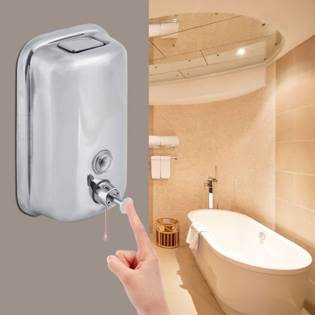 800/1000mL Bathroom Wall Mounted Stainless Steel Soap Liquid/Shampoo Lotion Dispenser,Soap