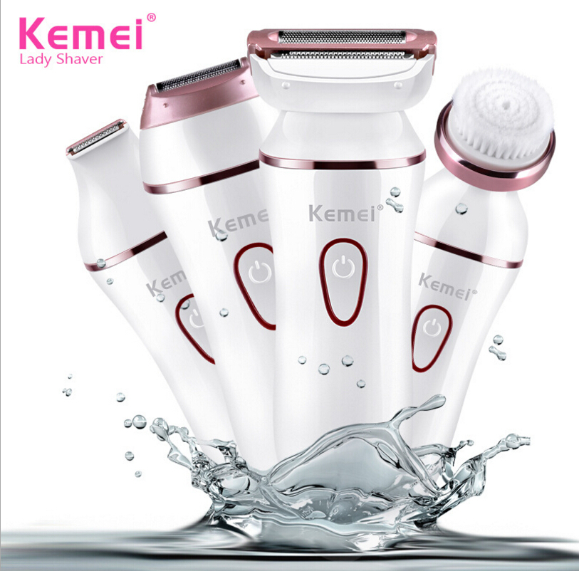 Kemei KM-7202 5 in 1 Ladies Shaver Multifunction Hair Epilator Electric Beauty Clean Tools Electric Shaver Women Epilator Shaving Lady Shaver Facial Razor