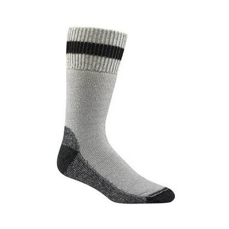 Wigwam Mills F2062-792 MD Diabetic Socks, Thermal, Gray & Black, Men's Medium
